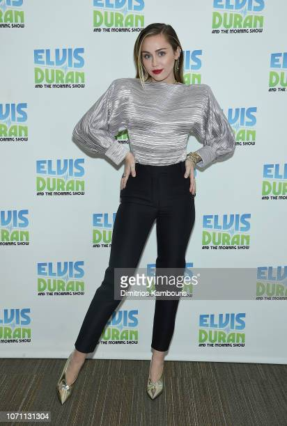Miley Cyrus visits The Elvis Duran Z100 Morning Show at Z100 Studio on December 10 2018 in New York City
