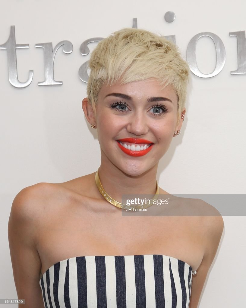 Miley Cyrus visits The Ryan Seacrest Foundation West Coast Debut Of New Multi-Media Broadcast Center 'Seacrest Studios' at CHOC Children's Hospital on March 22, 2013 in Orange, California.