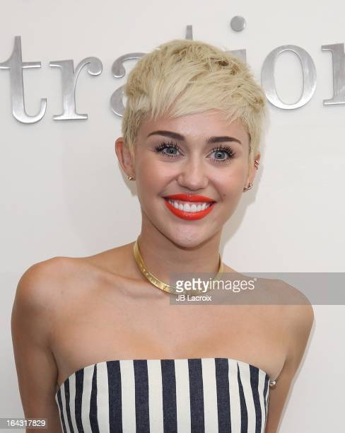 Miley Cyrus visits The Ryan Seacrest Foundation West Coast Debut Of New MultiMedia Broadcast Center 'Seacrest Studios' at CHOC Children's Hospital on...