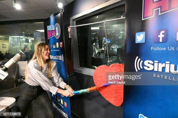 Miley Cyrus visits The SiriusXM Studios on December 10, 2018 in New York City.