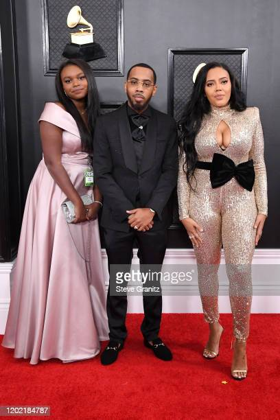 Miley Justine Simmons JoJo Simmons and Angela Simmons attend the 62nd Annual GRAMMY Awards at Staples Center on January 26 2020 in Los Angeles...