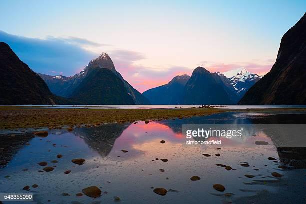 Milford Sound Dawn Reflections