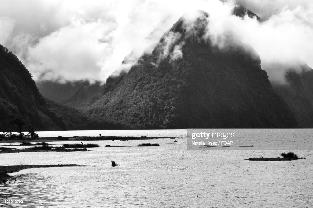 Milford Sound is a fiord in New Zealand : Stock Photo