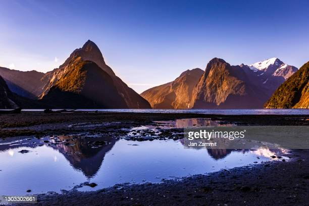 milford sound - new zealand stock pictures, royalty-free photos & images