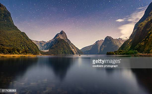 Milford sound scenic night view