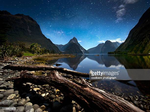 Milfordsound at night with stars