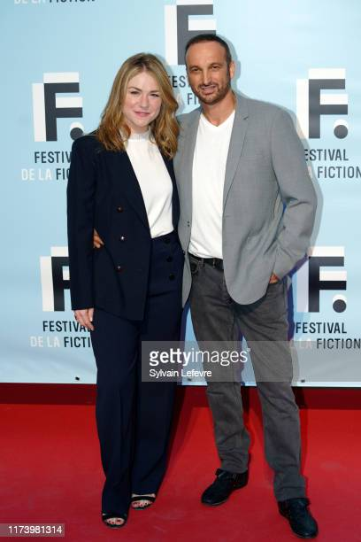 Émilie Dequenne and her husband Michel Ferracci attend the photocall of opening ceremony of the 21th Festival of TV Fiction At La Rochelle : Day One...