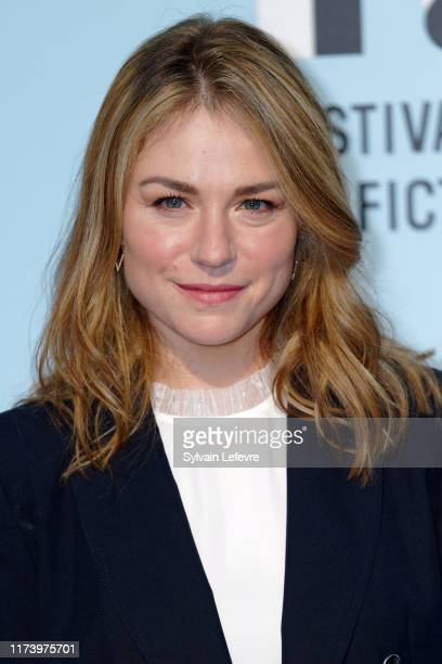 Émilie Dequenne attends the photocall of opening ceremony of the 21th Festival of TV Fiction At La Rochelle Day One on September 11 2019 in La...