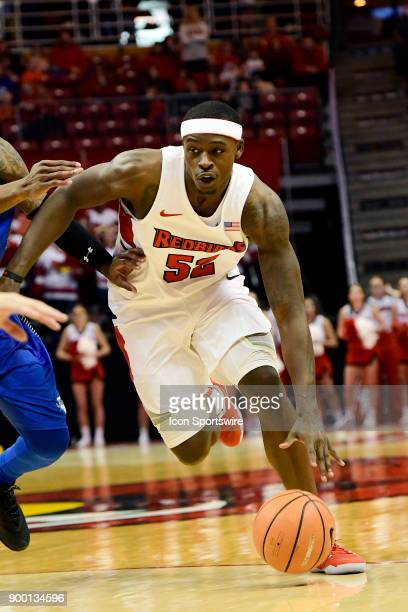 Milik Yarbrough forward Illinois State University Redbirds brings the basktball downcourt against the Indiana State Sycamores Sunday December 31 at...