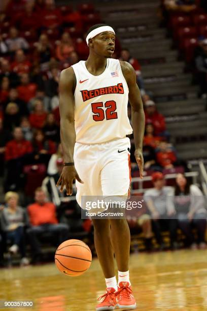 Milik Yarbrough forward Illinois State University Redbirds brings the basketball down the court against the Indiana State Sycamores Sunday December...