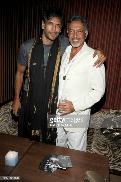 Milind Soman and Suresh Bhojwani attend VIKRAM CHATWAL HOTELS Presents MAI MUMBAI with Fashion For Relief at LAKME FASHION WEEK After Party at China...