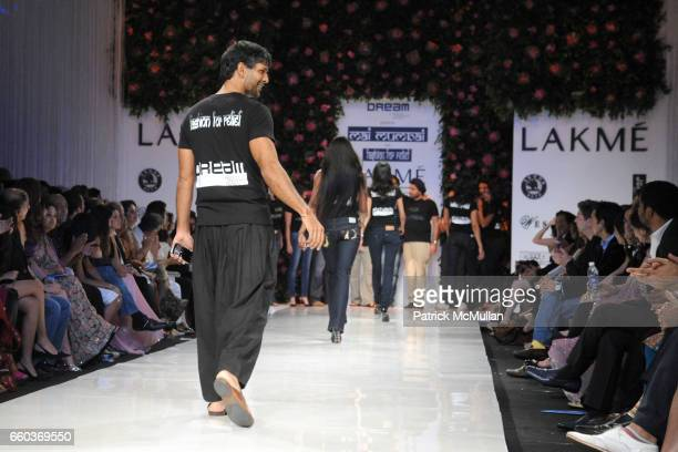 Milind Soman attends VIKRAM CHATWAL HOTELS Presents MAI MUMBAI with Fashion For Relief at LAKME FASHION WEEK at The Grand Hyatt on March 28 2009 in...