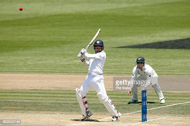Milinda Siriwardana of Sri Lanka bats during day three of the Second Test match between New Zealand and Sri Lanka at Seddon Park on December 20, 2015...