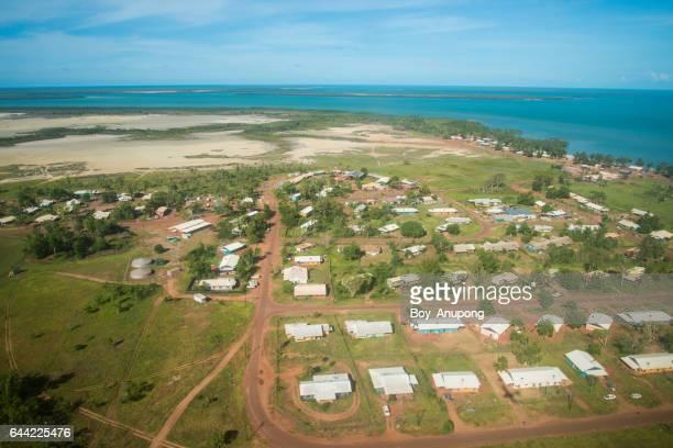 milingimbi island scenery view looking below from airplane, australia. - アーネム ストックフォトと画像