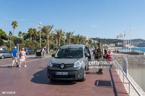 Militaires plan Vigipirate Promenade des anglais 28 septembre 2016 Nice France