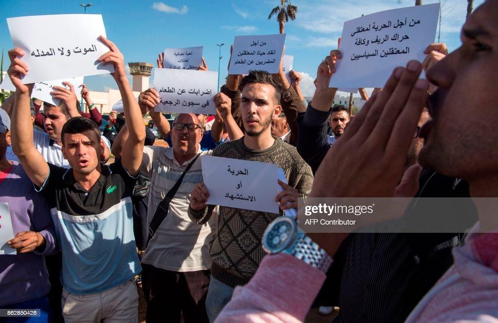MOROCCO-UNREST-POLITICS-RIGHTS-DEMO : News Photo
