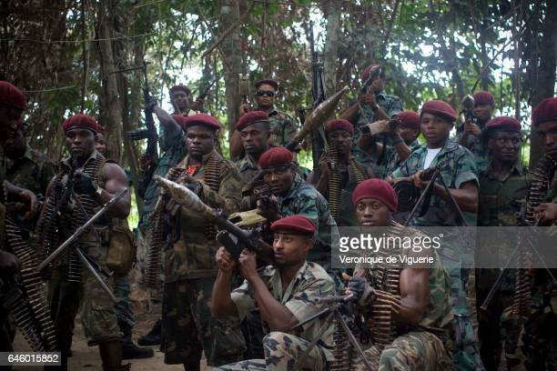 Militants working under Ateke Tom the big chief of the MEND in camp nine which is just one of the eleven camps he rules in the mangroves of the Niger...