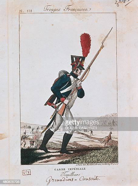 Militaria France 19th century Uniforms of the French army Grenadier of the Imperial Guard Paris Musée De L'Armée