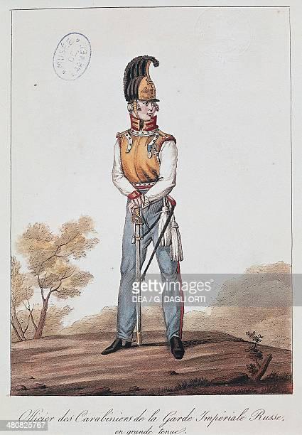 Militaria, Russia, 19th century. Russian army uniforms: Carabinieri officer of the Imperial Guard. Paris, Musée De L'Armée