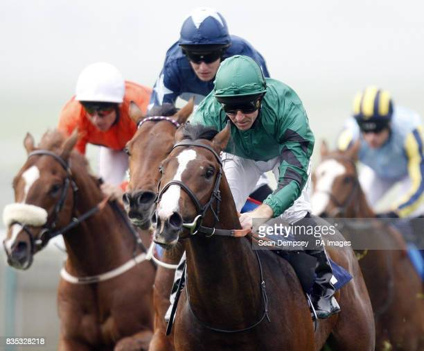 Militarist ridden by Jimmy Fortune wins the Salinity Wood Ditton Stakes at Newmarket Racecourse Suffolk