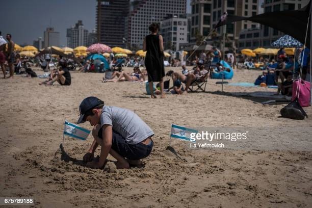 A military air show marking the 69th anniversary of Israel's independence on May 2 2017 in Tel Aviv Israel The day marks when David BenGurion the...
