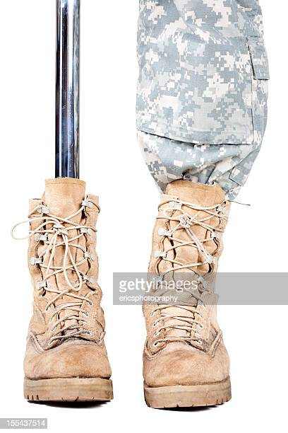 military amputee - injured soldier stock photos and pictures