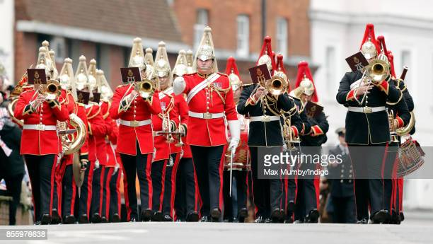 A military band takes part in the Headley Court Farewell Parade on September 29 2017 in Dorking England A service of thanksgiving at St Martin's...