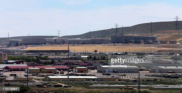 Military base Camp Williams sits in the foreground of the National Security Agency facility under construction in Bluffdale Utah US on June 7 2013...