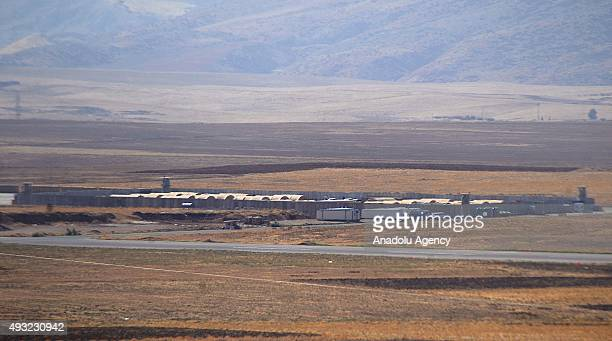 Military base established in Herir District, 70km from Erbil, is seen in Iraq on October 17, 2015.