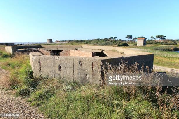 Military building Emergency Coastal Defense Battery at East Lane Bawdsey Suffolk England UK