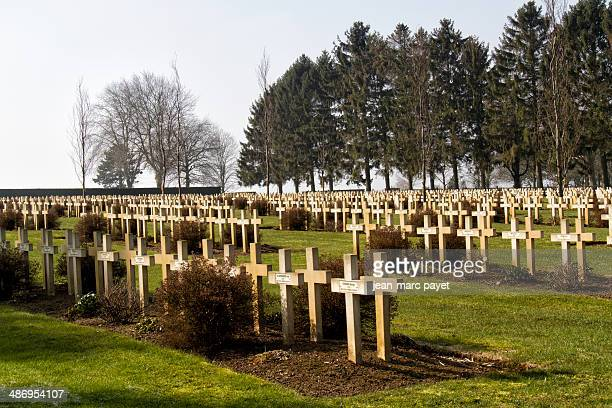 Military cemetery of Malmaison in France It is located on the chemins des dames in Picardy In this place in avril 1917 took place the Nivelle...