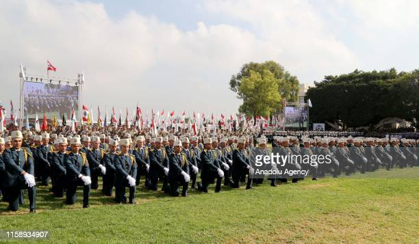 A military ceremony marking the 74th anniversary of the founding of Lebanese Armed Forces is held at the military academy in Beirut Lebanon on August...