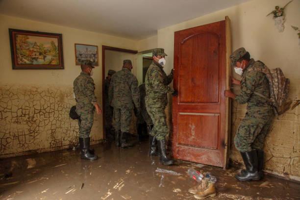ECU: Tarqui River Flood At Carmen de Gullo