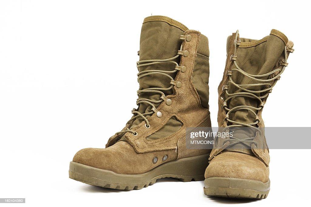 Military Combat Boots : Stock Photo