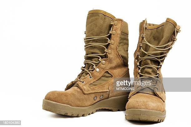 military combat boots - marines military stock photos and pictures