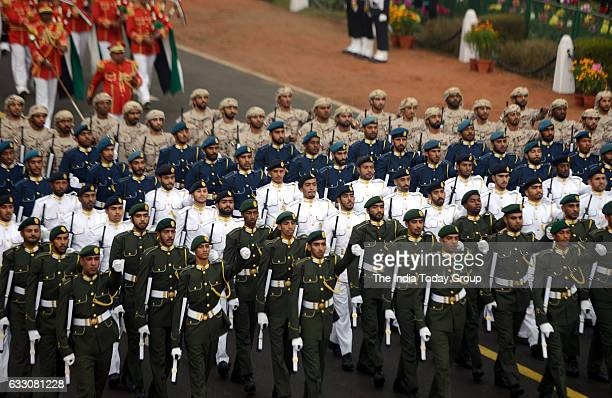 A military contingent from the United Arab Emirates marches during 68th Republic Day parade in New Delhi