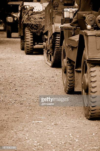 military convoy. - dunkirk evacuation stock pictures, royalty-free photos & images