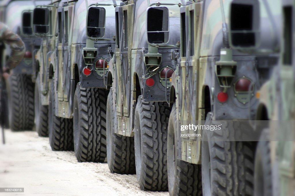 Military convoy : Stock Photo