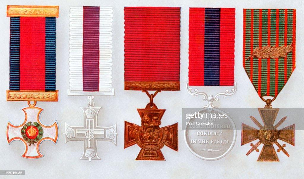 Military decorations. : News Photo