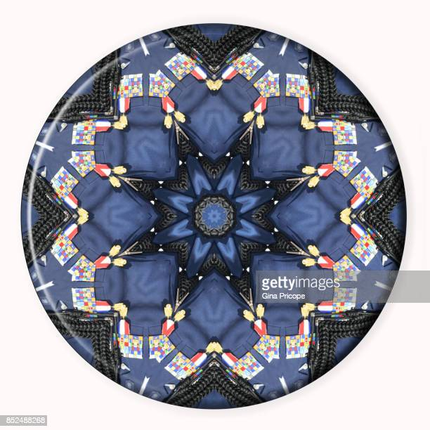 military decorations medallion - kaleidoscope stock photos and pictures