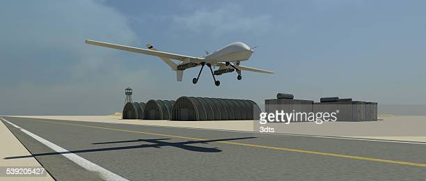Military drone (UAV) take-off sequence