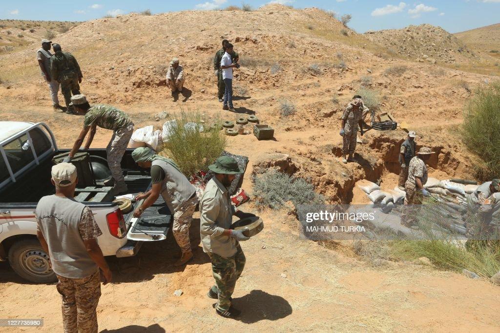 LIBYA-CONFLICT-MINE : Nieuwsfoto's