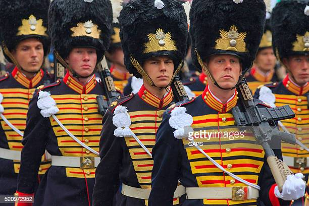 military escort on Lange Voorhout during Prinsjesdag in The Hague