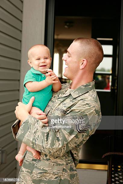 military father and son - air force stock pictures, royalty-free photos & images