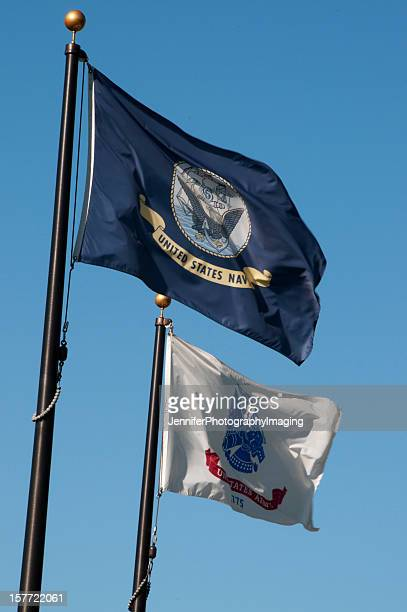 military flags - us military emblems stock pictures, royalty-free photos & images