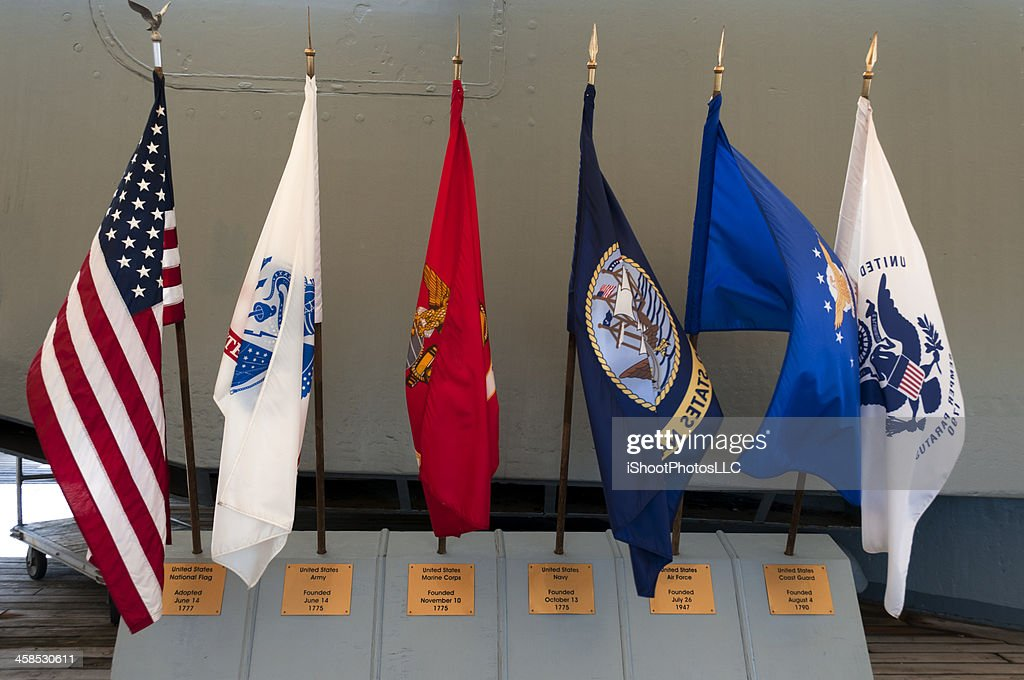 Military Flags : Stock Photo
