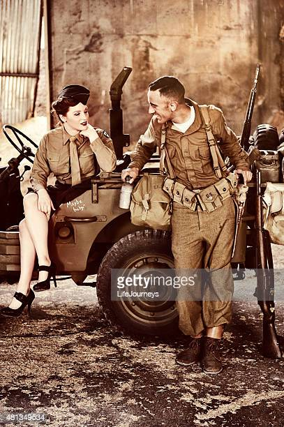 WWII US Military - Flirting Army Personnel
