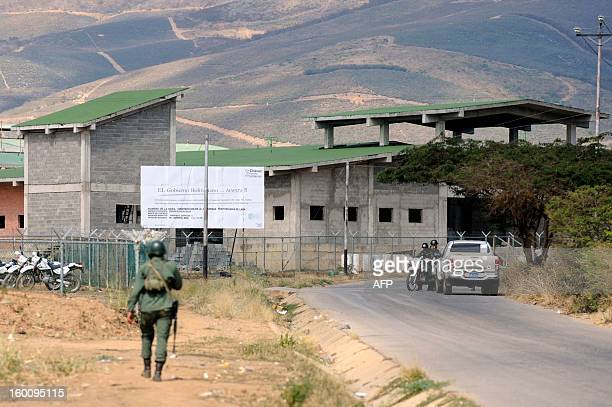 Military forces remain outside the Uribana prison in Lara state Venezuela in January 26 the day after a riot At least 55 people were killed and 90...