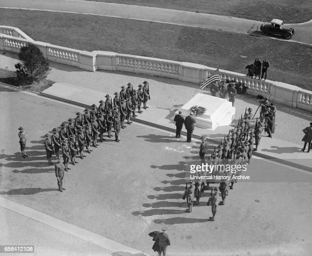 Military Formation at Tomb of Unknown Soldier Arlington National Cemetery Arlington Virginia USA National Photo Company October 1922