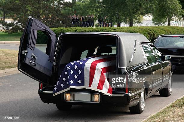 military funeral hearse - hearse stock photos and pictures